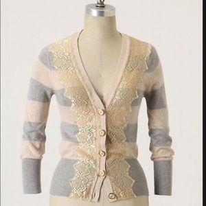 Anthro Charlotte Striped Sweater Sz XL